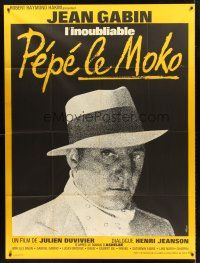 4x052 PEPE LE MOKO French 1p R60s different close up of Jean Gabin, directed by Julien Duvivier!