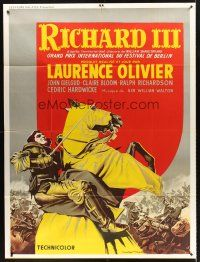 4x058 RICHARD III French 1p R80s Laurence Olivier as the director and in the title role!