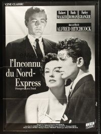 4x064 STRANGERS ON A TRAIN French 1p R80s Hitchcock, Farley Granger, Robert Walker , Ruth Roman