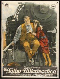 4x025 FAST FREIGHT Austrian 37x50 '22 banned Fatty Arbuckle, stone litho!