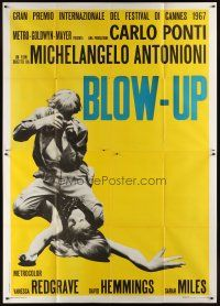 4x091 BLOW-UP Italian 2p '67 Michelangelo Antonioni, very first rare photographic style!