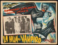 4x022 DEVIL BAT'S DAUGHTER Mexican LC '46 cool border art by Aguirre Tinoco + cast lineup!