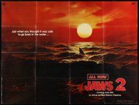 4x024 JAWS 2 subway poster '78 classic 'just when you thought it was safe' teaser image!