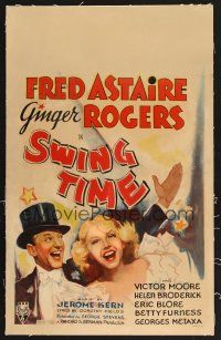 4x019 SWING TIME linen WC '36 wonderful image of Fred Astaire & Ginger Rogers!