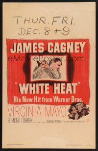 4x021 WHITE HEAT WC '49 James Cagney is Cody Jarrett, classic film noir, top of the world, Ma!