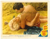 4y061 POSTMAN ALWAYS RINGS TWICE LC #8 '46 great censored too sexy image of Garfield & Lana Turner!