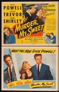 4y074 MURDER, MY SWEET 8 LCs '44 Dick Powell, Claire Trevor, Raymond Chandler's Farewell My Lovely!