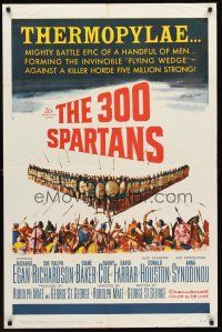 4z013 300 SPARTANS 1sh '62 Richard Egan, the mighty battle of Thermopylae!