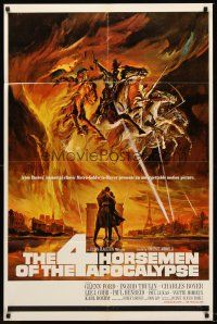 4z014 4 HORSEMEN OF THE APOCALYPSE 1sh '61 really cool artwork by Reynold Brown!