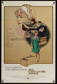 4z034 ALICE DOESN'T LIVE HERE ANYMORE int'l 1sh '75 Martin Scorsese, cool Petragnani artwork!