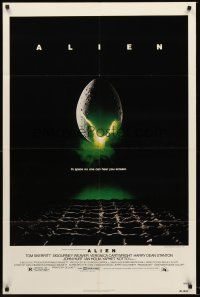4z037 ALIEN 1sh '79 Ridley Scott outer space sci-fi classic, cool hatching egg image!