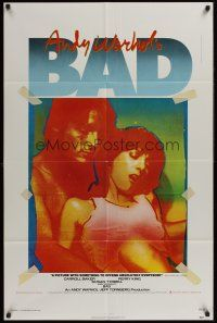4z051 ANDY WARHOL'S BAD 1sh '77 Carroll Baker, Perry King, sexploitation black comedy!
