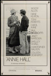 4z056 ANNIE HALL 1sh '77 full-length Woody Allen & Diane Keaton, a nervous romance!