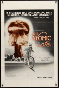 4z064 ATOMIC CAFE 1sh '82 great colorful nuclear bomb explosion image!