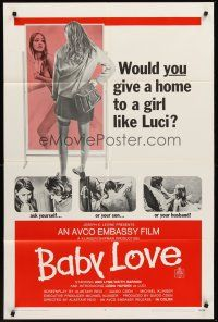 4z066 BABY LOVE 1sh '69 would you give a home to a girl like Luci, a BAD girl!