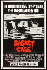 4z076 BASKET CASE 1sh '82 the tenant in room 7 is very small, very twisted & VERY mad!