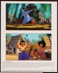 5a039 JUNGLE BOOK 2 presskit '03 Disney sequel, cool full-color animation stills!
