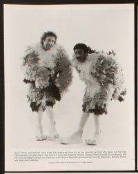 5a061 STIR CRAZY presskit '80 Gene Wilder & Richard Pryor in chicken suits, Sidney Poitier