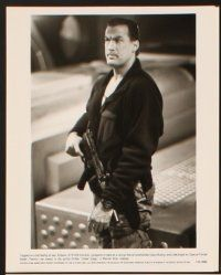 5a062 UNDER SIEGE presskit '92 super close portrait of Navy SEAL Steven Segal!