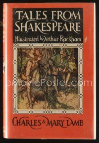 5b193 TALES FROM SHAKESPEARE facsimile edition English hardcover book '66 art by Arthur Rackham!