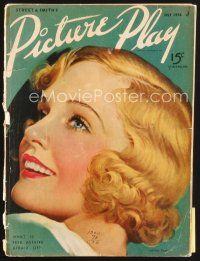 5b120 PICTURE PLAY magazine July 1936 Madge Evans on cover, Rita Cansino pictured!