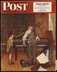 5b161 SATURDAY EVENING POST magazine January 11, 1947 art of piano tuner by Norman Rockwell!