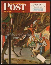 5b162 SATURDAY EVENING POST magazine May 3, 1947 cool merry-go-round art by Norman Rockwell!