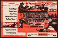 5b413 SOUTHWEST PASSAGE pressbook '54 3-D, the most fabulous chapter in the history of the West!