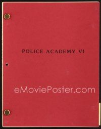 5b313 POLICE ACADEMY 6 revised second draft script September 16, 1988, screenplay by Curwick!