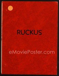 5b316 RUCKUS script '81 screenplay by director Max Kleven!