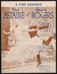 5b276 SWING TIME sheet music '36 Fred Astaire & Ginger Rogers dancing, A Fine Romance!