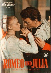 5b231 ROMEO & JULIET German program '54 Laurence Harvey & Susan Shentall, Shakespeare, different!
