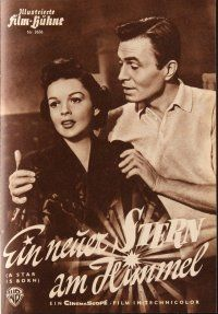 5b237 STAR IS BORN German program '54 many different images of Judy Garland & James Mason!