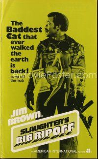 5b412 SLAUGHTER'S BIG RIPOFF pressbook '73 the mob put the finger on baddest cat Jim Brown!