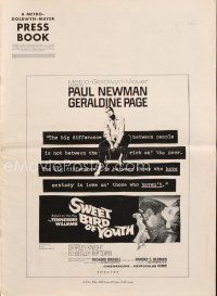 5b417 SWEET BIRD OF YOUTH pressbook '62 Paul Newman, Geraldine Page, from Tennessee Williams play!