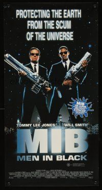 5j107 MEN IN BLACK Aust daybill '97 Will Smith & Tommy Lee Jones with huge guns!