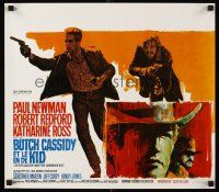 5j351 BUTCH CASSIDY & THE SUNDANCE KID Belgian '69 Newman & Redford + cool different artwork!