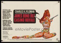 5j354 CASINO ROYALE Belgian '67 all-star James Bond spy spoof, sexy psychedelic art by McGinnis