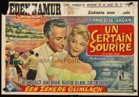 5j356 CERTAIN SMILE Belgian '58 Joan Fontaine has love affair w/Rossano Brazzi & 19 year-old boy!