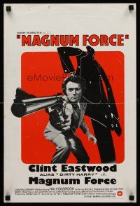 5j415 MAGNUM FORCE Belgian '73 Clint Eastwood is Dirty Harry pointing his huge gun!