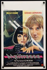 5j416 MAITRESSE Belgian '76 cool Philip Castle art of Barbet Schroeder & Gerard Depardieu!