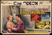 5j459 SUMMER & SMOKE Belgian '61 Laurence Harvey & Geraldine Page, Tennessee Williams' play!