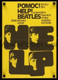 5j015 HELP Czech 11x16 R86 The Beatles, John, Paul, George & Ringo, rock & roll classic!
