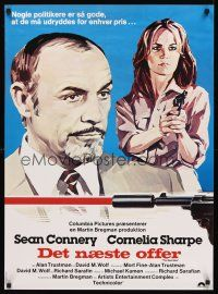 5j574 NEXT MAN Danish '76 Sean Connery, sexy Cornelia Sharpe, love is the ultimate weapon!