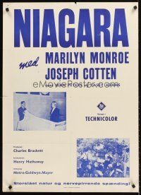 5j575 NIAGARA Danish R60s sexy Marilyn Monroe in morgue, motorcycle cops!