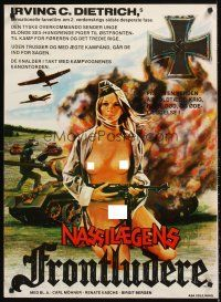 5j601 SHE DEVILS OF THE SS Danish '73 Carl Mohner, art of nude Nazi lady w/machine gun!