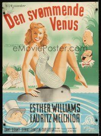 5j614 THIS TIME FOR KEEPS Danish '48 Xavier Cugat, art of sexiest swimmer Esther Williams!