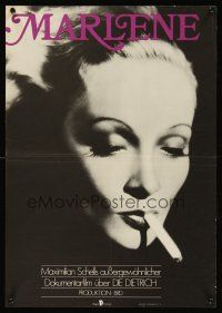 5j017 MARLENE East German 16x23 '85 Maximilian Schell's Dietrich biography, best portrait!