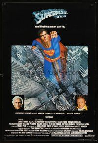 5j063 SUPERMAN English 1sh '78 comic book hero Christopher Reeve, Gene Hackman & Brando!