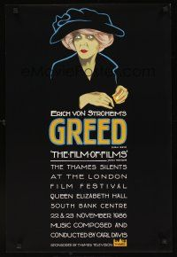 5j070 GREED English double crown R86 cool art from Erich von Stroheim silent classic!